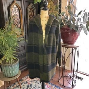 Matty M plaid slouchy hooded jacket